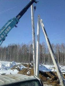 установка столбов под электричество